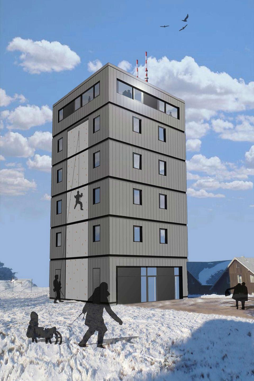 Fernmeldeturm auf dem Großen Inselberg