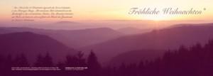 Weihnachtskarte 2014| Foto Axel Bauer | Hoher Schorn im Thüringer Wald