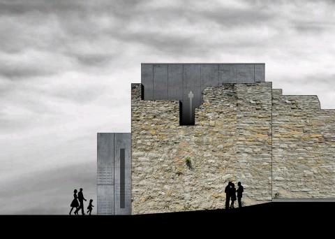Heldenburg Entwurf (Ansicht Ost)